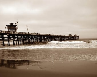 San Clemente Pier in Sepia - 11 x 14 Fine Art Photographic Print
