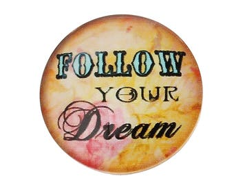 Follow your dream glass 20 mm cabochon