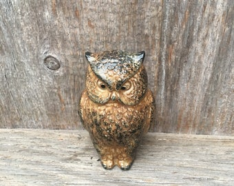 Pottery Owl Figurine