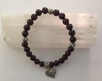 Garnet Crystal Healing Bracelet