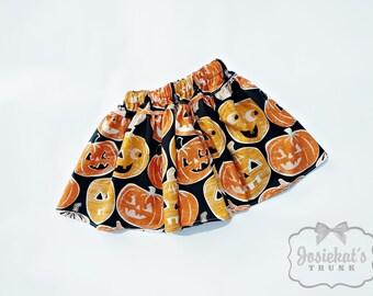 Halloween Skirt - Girl Twirl Skirt - Retro Pumpkin Twirl Skirt - Infant Halloween Skirt - Tween Halloween Skirt - Toddler 6 month to Girl 16