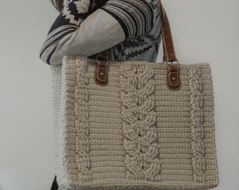 PDF Crochet Pattern for the Matilda Tote - Crochet Cables Bag
