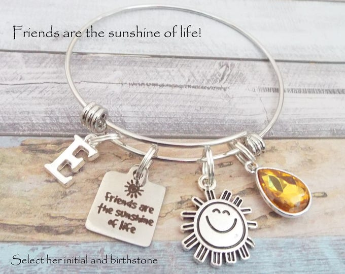 Best Friend Birthday Charm Bracelet, Gift for Best Friend, Personalized Jewelry Gift for Her, Custom Jewelry for Women, Best Friends Gift