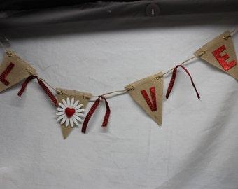 LOVE Banner, Valentine's Banner, Wedding Banner