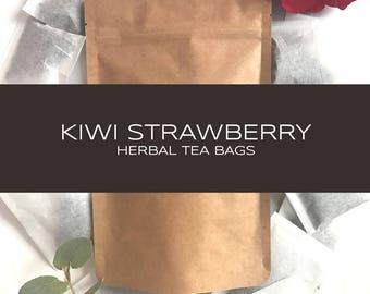 Kiwi Strawberry Herbal Tea Bags