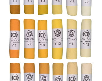 Unison Artist Quality Soft Pastels - Yellow 1 - 18