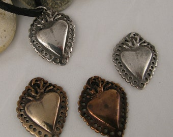 Flaming Heart pendent