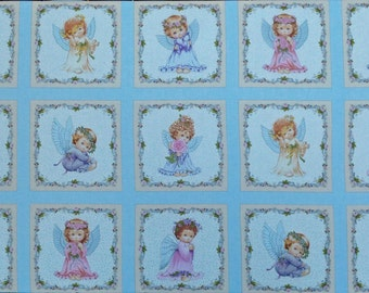 """Angels cotton panel -- approximately 23"""" x 44"""""""