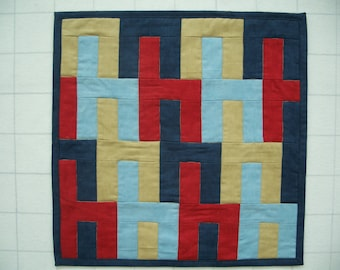 Stacked Chairs quilted wall hanging