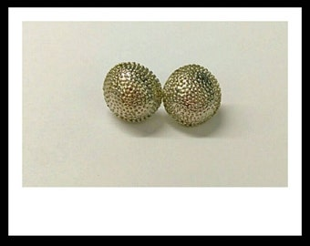 Silver Button Earrings, Stud Earrings, Vintage Button Earrings, Sparkly Earrings, Accessories, Fashion Jewelry, Boutique