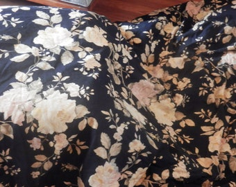 RALPH LAUREN Winter Rose Black Floral Garden  Rose Pink Yellow Ivory King Comforter