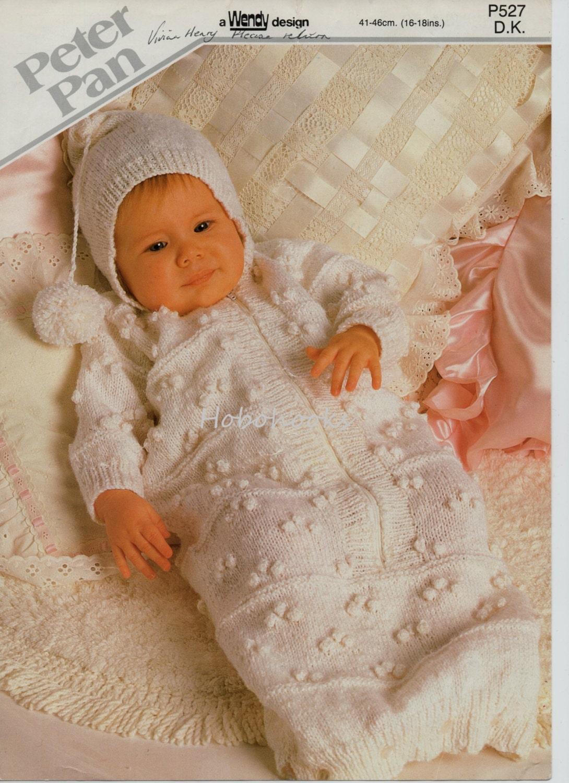 Baby Knitting Pattern Baby Sleeping Bag with Hood Baby Growbag