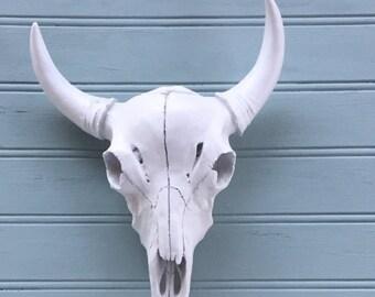 Faux Longhorn Skull -Gallery Wall Decor - Faux Taxidermy - Faux Cow Skull - Mini Longhorn - Skull Wall Decor