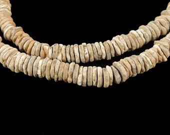 Heishi Ostrich Egg Shell Trade Beads Africa 121163