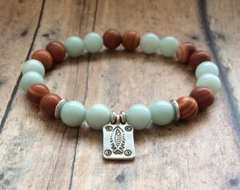 Yoga Bracelet |  Energy Bracelet | Mala Bracelet | Boho Beaded Bracelet | Amazonite Bracelet | Jasper Bracelet