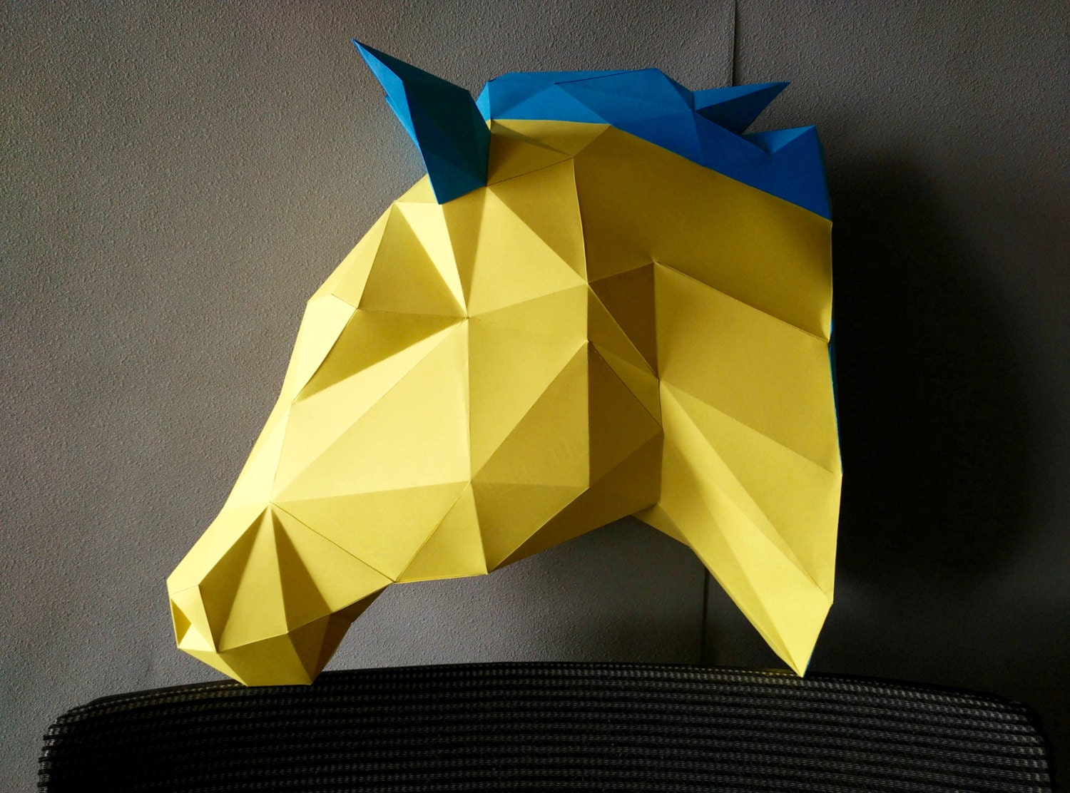 Horse DIY KIT/ Room Decor/ Paper Craft/ Wall Decor/ Paper Animal ...