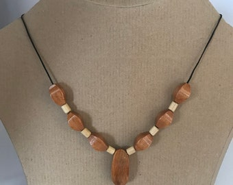 Wooden necklace , wood necklace