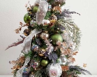 Christmas Tree, Holiday Tree, Decorated Tree, Table Top Tree, Christmas Decorations, Small Christmas Tree, Miniature Tree, Holiday Decor