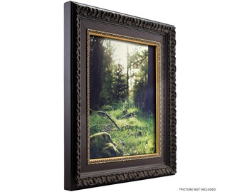 "Craig Frames, 10x12 Inch Antique Brushed Mahogany with Ornate Gold Picture Frame, Devereux 2.5"" (95301012)"