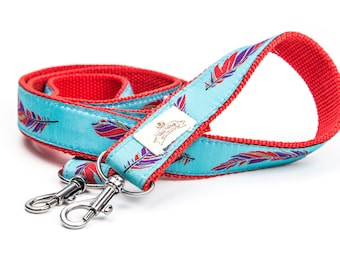 Aztec Camera Strap. Feather Camera Strap. Blue Camera Strap. Matching Dog Collars.