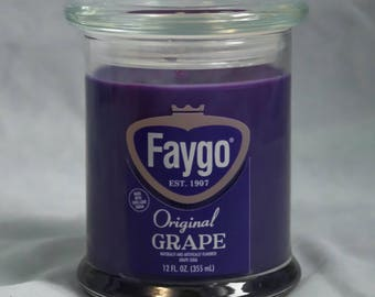Faygo Grape Candle
