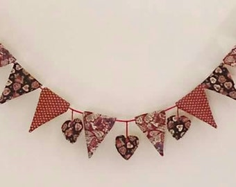 2m Hearts and Flowers Bunting
