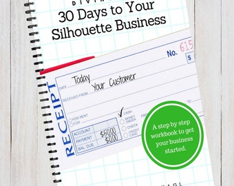 Book - Diving In: 30 Days to Your Silhouette Business, Start a Business with Your Silhouette Cameo Curio Mint - by Cutting for Business