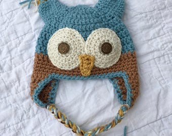 Wide-Eyed Owl Beanie - Free US Shipping
