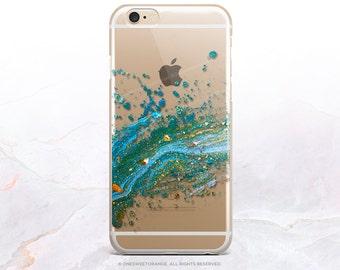 iPhone 8 Case iPhone X Case iPhone 7 Case Splatter Clear GRIP Rubber Case iPhone 7 Plus Clear Case iPhone SE Case Samsung S8 Plus Case U151