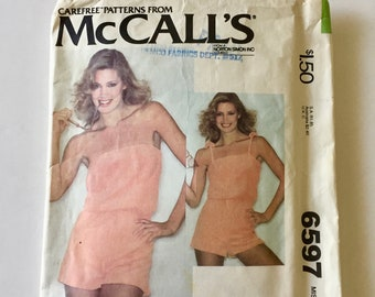 Woman's Strapless Jumpsuit or Romper, Vintage McCall's Pattern 6597- Used