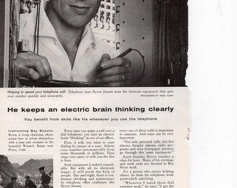 Bell Telephone System Vintage Print Ad 1957