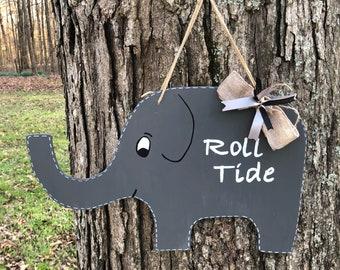 Roll tide, Alabama, Elephant door hanger