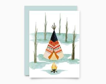 Wigwam greeting card