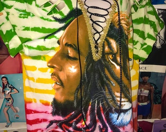 Bob Marley Lion Lace up Tshirt