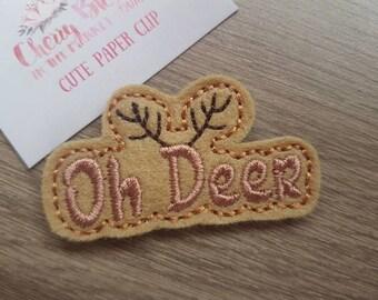 Oh Deer Word Paper Clip