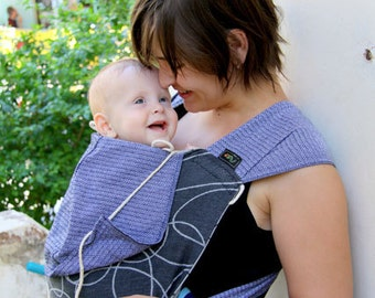 Wrap mei tai baby carrier made of Didymos Ellipsen schwarz Girasol Graphite