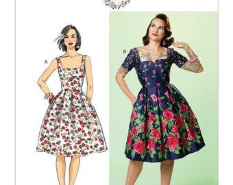 Vintage Butterick B6556 by Gertie retro sewing pattern
