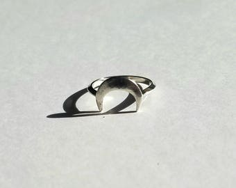 Sterling silver luna ring, size 6.25