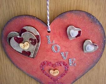 Hanging Heart Plaque.