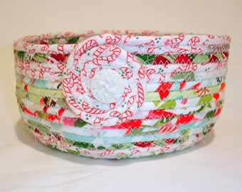 Hard Candy Christmas Coiled Fabric Bowl, Gift