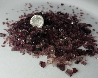 Crushed glass Purple 5# package  Size 1