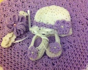 Lilac Dream Baby Crochet Set