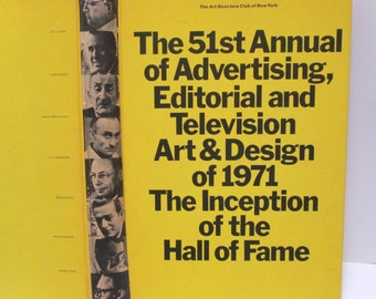 Annual of Advertising Book 1971 TV Art & Design Directors Club of NY Cassandre, Warhol, Agha Photos Photography TV History 460 pages