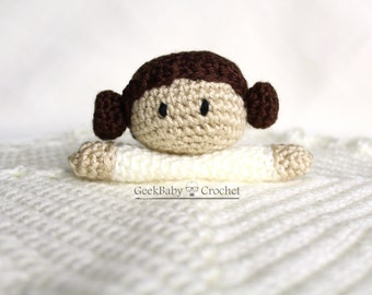 Princess Leia Lovey, Crochet security blanket, MADE TO ORDER