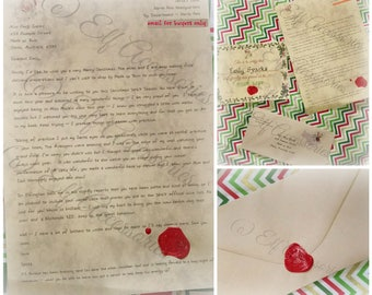 Personalised Santa Letter - 100% custom written  - no 2 letters the same!
