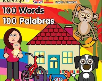 100 First Words - children's dual language / bilingual board book: Spanish & English