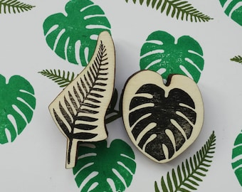 Stamping Tropical leaves