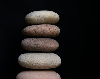 Zen Stones - Stress Relief Gift - Meditation Altar Cairn - Stacking Pebbles - Baltic Sea