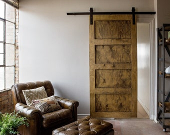 Industrial/Classic Sliding Barn Door Closet Hardware
