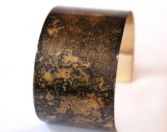 Cytherea - Golden Brass Patina Cuff Bracelet